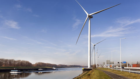 Greenchoice windmolens Hartelkanaal