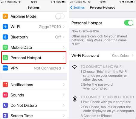 Tethering Persoonlijke Mobiele Hotspot Internet Delen